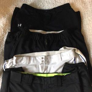 Pants - 4 Pairs of Women's Softball Pants